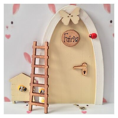 Wooden Handpainted Fairy Door - Great Gift Idea - Personalised Fairy Notes Pink