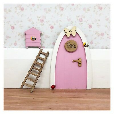Pink Fairy Door Personalised and accessories and notes