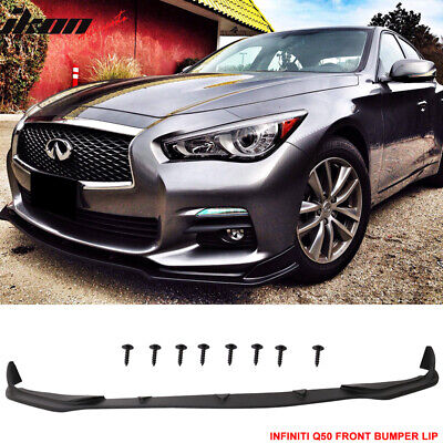 Fit For 14-17 Infiniti Q50 Sport  Glossy Black Front Bumper Lip Spoiler Splitter