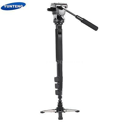 Tripod Monopod Stand with Fluid Head For Canon Nikon DSLR Camera Camcorder Q5N7