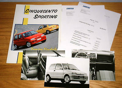 Fiat Cinquecento Sporting French Press Pack 1994 & Photograph x 3 Final Listing