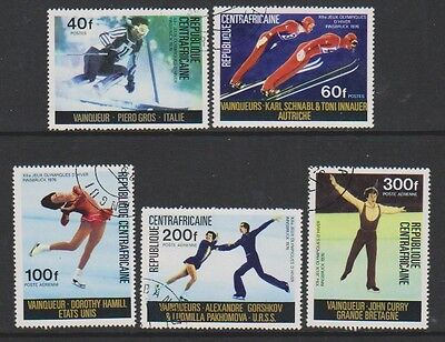 Central African Rep - 1976 Medal Winners Olympic Games set - F/U - SG 426/30 (d)