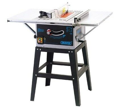 Draper 72713 254Mm Table Saw With Extension Wings And Stand