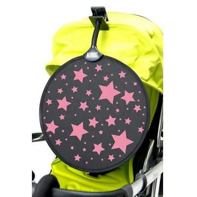 My Buggy Buddy Sun Shade (Pink Stars) with Universal Clip