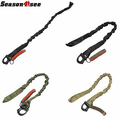 Outdoor Tactical Military Camping Hunting Safety Rope Elastic Waist Sling Belt
