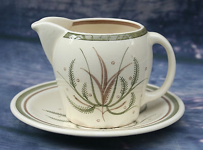 Vintage Susie Cooper Fern Pattern Cream Jug and Coffee Saucer - Signed
