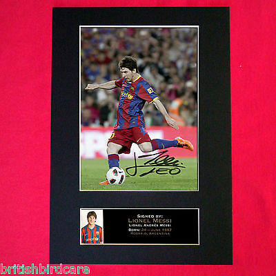 LIONEL MESSI No1 Autograph Mounted Signed Photo RE-PRINT Print A4 141