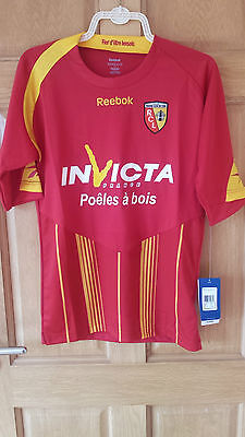 Racing Club De Lens 2009-10 Offical Home Shirt New With Tags Size Adult Small