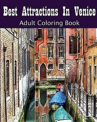 Best Attractions in Venice: Adult Coloring Book by Vivian Wright (English) Paper