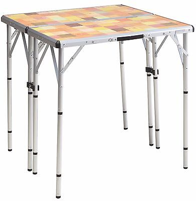 Coleman PackAway 4-in-1 Portable Mosaic Camping Tailgating Outdoor Picnic Table