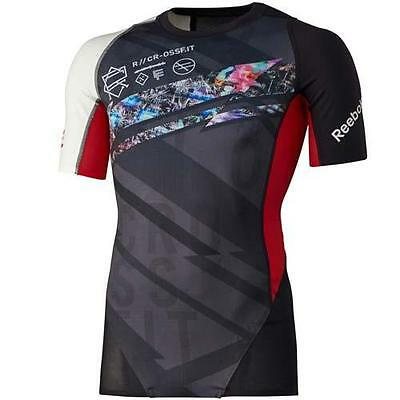 Mens Reebok Crossfit Midweight Compression Top Shirt Athletic Fitness B87916