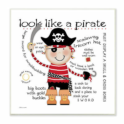 Stupell Industries The Kids Room Look like a Pirate Wall Plaque