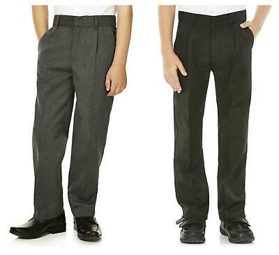 Boys School Trousers Grey and Charcoal Ex Store Quality From 2 Year to Older Boy
