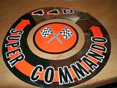 1966 1967 Plymouth Super Commando 440 Air Cleaner Decal