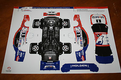 Mobil Holden Racing Team VT Commodore V8 Supercar Cardboard Race Car Model