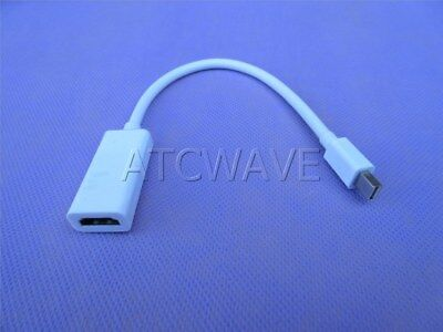 Mini Display Port to HDMI HD TV Cable Lead Adapter Male To Female For MacBook