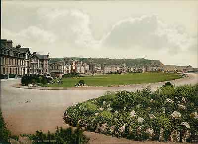 Teignmouth. The Den. PZ vintage photochromie, photochrom photochromie, vintage