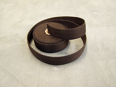 Heavy Duty 25mm Wide Webbing 10 mtrs Harnesses, weight belts Black