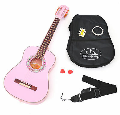 1/2-Size Children Kids Acoustic Classic Guitar light pink children aged 6-9 year