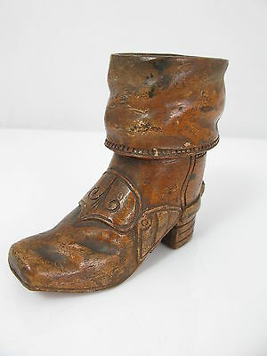 Victorian Wooden Boot Shaped Matchstriker - Treen