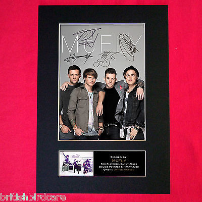 MCFLY Mounted Signed Photo Reproduction Autograph Print A4 303