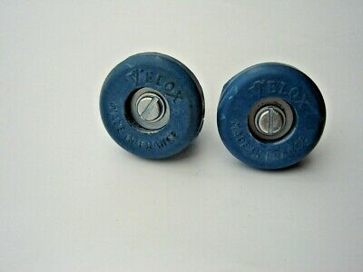 Velox Old Style Blue Handlebar End Plugs - Made In France - Nos