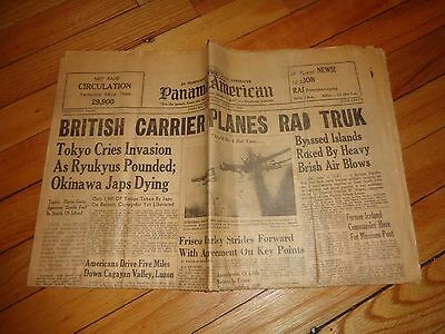 June 17 1945 Panama America Newspaper WWII in English