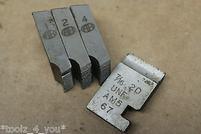 "Alfred Herbert 7/16"" x 20 Tpi UNF Coventry Die Chasers For 3/4"" Head CD105"