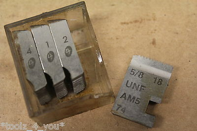 "DT 5/8"" x 18 Tpi UNF Coventry Die Chasers For 3/4"" Head CD115"