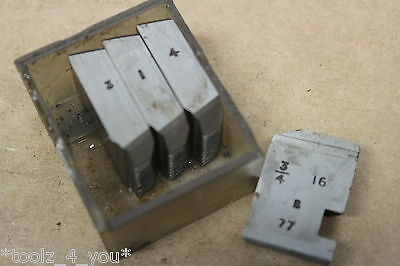 """Alfred Herbert 3/4"""" x 16 Tpi UNF Coventry Die Chasers For 3/4"""" Head CD121"""
