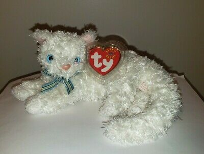 Ty Beanie Baby ~ STARLETT the White Cat ~ MWMT