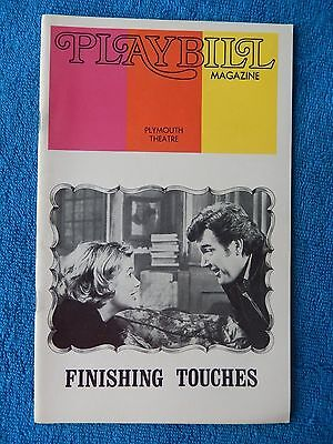 Finishing Touches - Plymouth Theatre Playbill - March 1973 - Barbara Bel Geddes