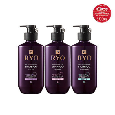 RYO Anti Hair Loss Shampoo 180mL / 400mL for Oily, Dry, Sensitive Scalp