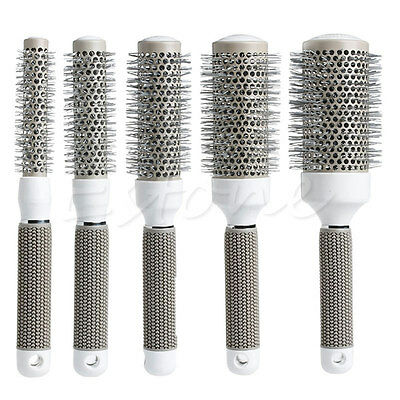 5 Size Ceramic Iron Round Comb Hair Dressing Hair Salon Styling Brush Barrel Hot