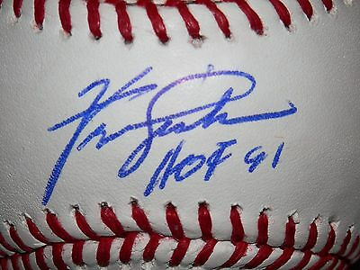 Ferguson Jenkins Autographed Major League Baseball With Hof 91