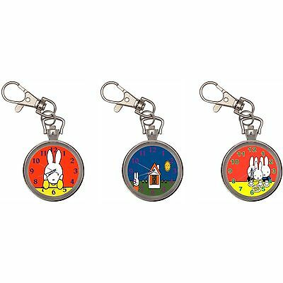 Miffy Silver Key Ring Chain Pocket Watch New