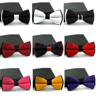 NEW FASHION MENS ADJUSTABLE BOW TIE POLYESTER WEDDING PROM PARTY Gentleman