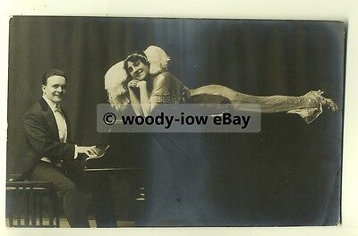 b1893 - Classical Pianist - Harry Thornton & his wife - postcard signed on back
