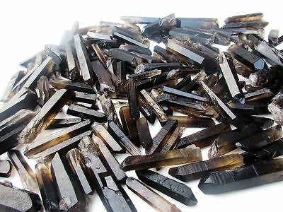 1/2LB 30-40 Lot black Quartz Crystal Points A+ Terminated Wand Specimen