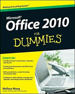 Office 2010 For Dummies by Wang, Wallace Paperback Book The Cheap Fast Free Post