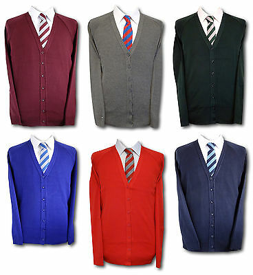 """Traditional Girls School Uniform Cardigans. Various Colours & Sizes. Up To 46"""""""