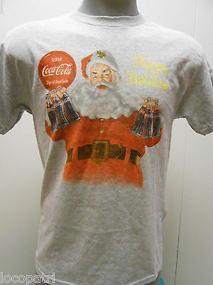 Mens Licensed Coca-Cola Happy Holidays Shirt New M