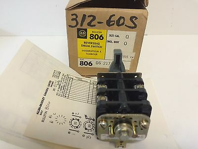 New Old Stock! Allen-Bradley Reversing Drum Switch 806-Ds-2172 806Ds2172 3-Pos