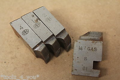 "Alfred Herbert 1/4"" x 19 Tpi BSP Coventry Die Chasers For 1"" Head CD144"