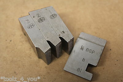 "Alfred Herbert 1/4"" x 19 Tpi BSP Coventry Die Chasers For 1"" Head CD150"
