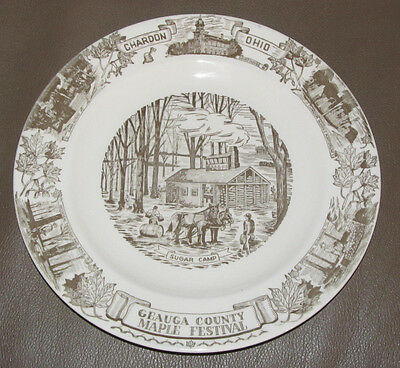 Kettlesprings Kilns Collector Plate Chardon, Ohio Maple Festival Geauga County
