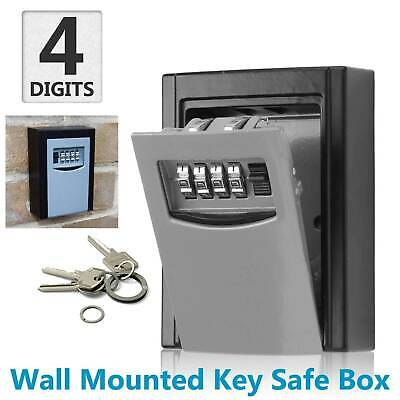 4 Digit Wall Mounted Weather Resistant Combination Key Safe Box Lock Storage