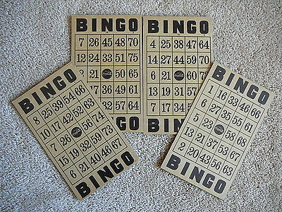 COCA-COLA COKE - LOT of FOUR 1940S 1950s VINTAGE BINGO CARDS - CLEAN UNMARKED VG