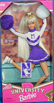 University Northwestern Blonde Barbie 1996, MIB NRFB - 19167