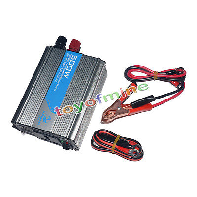 Meind 500w DC 12V to AC 220V Car Modified Power Inverter Converter USB for phone